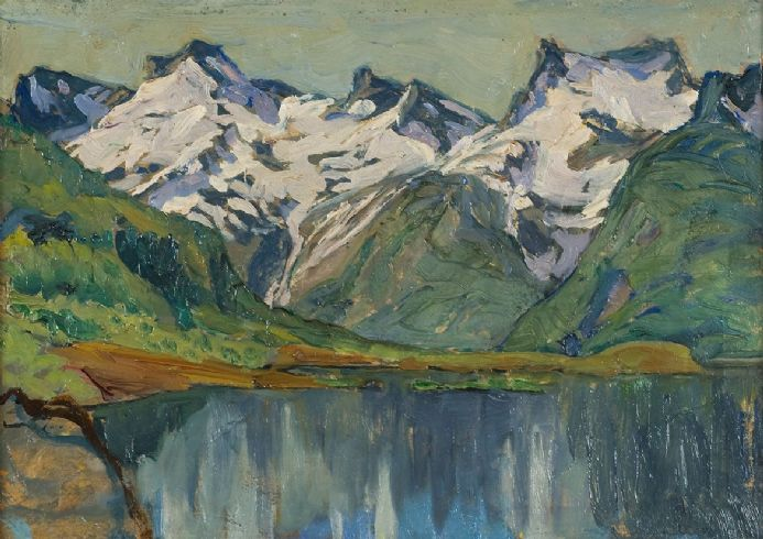 Boberg, Anna: A Mountain Lake. Study from North Norway. Fine Art Print/Poster (5475)